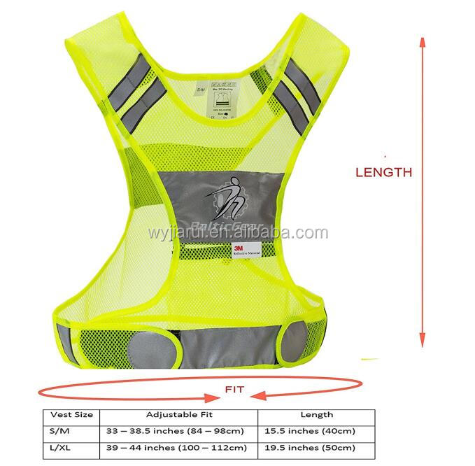 fluorescent road safety vest green yellow blue orange red
