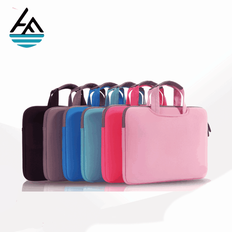Multifunction 12.5 14 inch fashionable small neoprene sleeve laptop bag