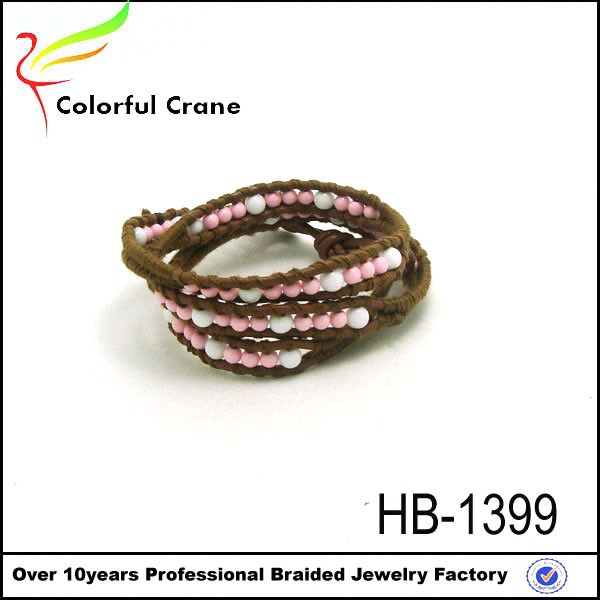 Hot new products for 2017 engraved leather bracelet snake chain bracelet custom rope bracelet