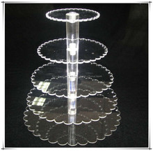 Hot selling beautiful designs acrylic cake display stand with various shapes