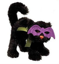 All of our Soft Toys Black Cat Halloween (Bat Mask)