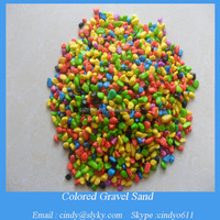 dyed coloured aquarium gravel sand