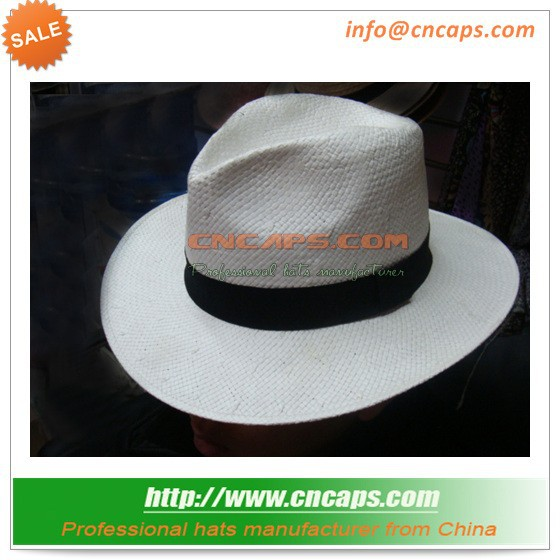 men genuine panama hat with hat band