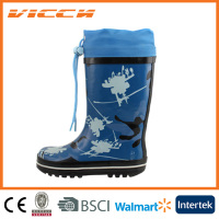 navy cheap rainbow korea cute kid rubber boots