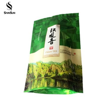 Heat seal nylon disposable herbal black small green coffee stand up zipper tea bags
