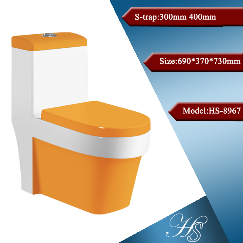 Hs 8967 Huida Toilet Red Colored Toilet Bowl Sanitary Ware
