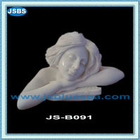 White Marble Nude Girl Bust Sculpture