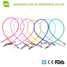 OEM Offered Assorted Colors Plastic Chain and Stainless Steel Clips Dental Bib Clip