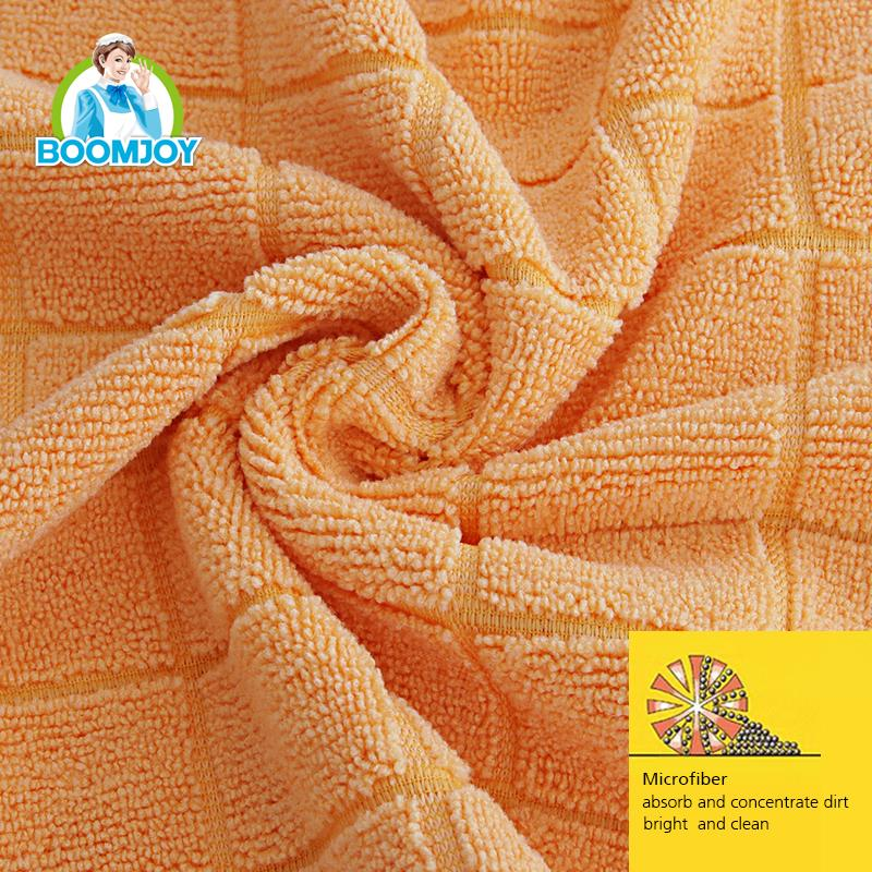 Microfiber car cleaning cloth with orange color.