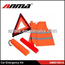 Amercia car emergency kit/ reflective vest/ child and woman safety vest kit