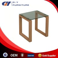 Teak root wood table coffee table aquarium light led table