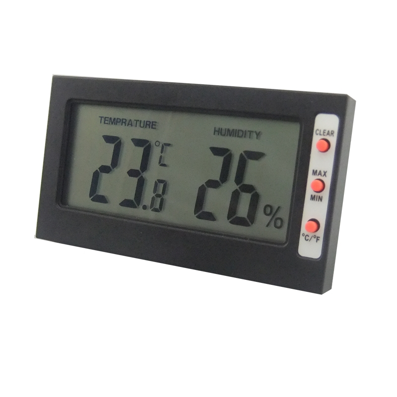 Min Digital LCD Hygrometer Temperature Humidity Meter Thermometer 0~50C 10%~99%RH