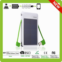 high quality solar battery charger with micro usb socket