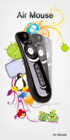3D motion stick fly air mouse, 2.4ghz pc remote control