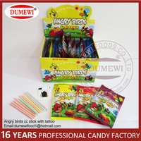 Colorful sour powder candy, sour candy stick, CC stick with tattoo