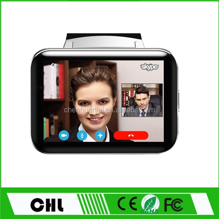 New Products 2017 Smart Phone Watch Dm98 Android Mtk 6572 Dual Core 3G Wifi Android Big Screen Video Calling Watch Mobile Phone