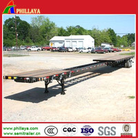 Extendable Container Flatbed Semi Truck Trailer Platform Trailer Dimensions Customized