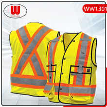Hi Vis reflective vest buckle on front