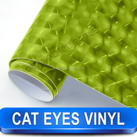 High Quality Buble Free Cat Eyes Style Car Vinyl Stickers For Sports Cars