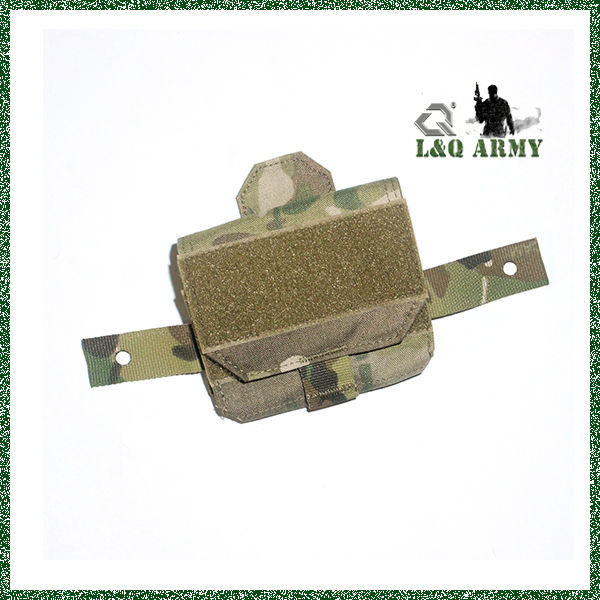 military Helmet Mounted 50/50 Battery Pouch