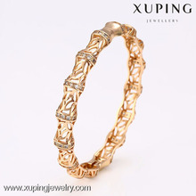 50949 Xuping crystal cut glass steel copper wholesale unfinished wood bangles