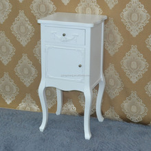 Racoco funiture vanity wooden eternal white painted antique bedside table