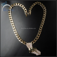 latest hip hop men's necklace, iced out cuban pendant necklace