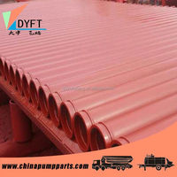 Protection paint steel pipe and elbow for concrete pump truck,trailer or placing boom machines