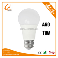 Hot Sale Led Incandescent Bulb A60 E27 B22 11W 1100Lm PF>0.5 Ra>80 CE RoHS EPR