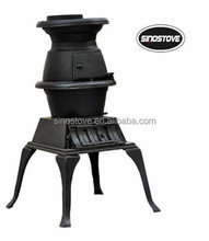 cast aluminum wood burning stove