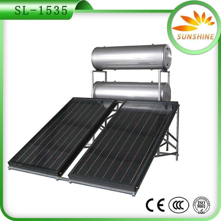 Durable rooftop Anoded oxidation pressured solar water heater guangzhou for household