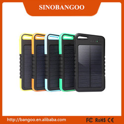 2016 Portable Solar Power Banks with Led Lamp for smart phone for tablet for MP3