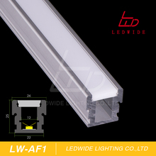 Recessed Floor Stairs Aluminum Profile 6063 T5 Extruded Channel For Led Stears