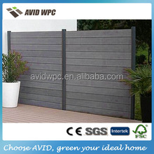 Easy installing and popular cheap wood plastic composite fence panels wholesale
