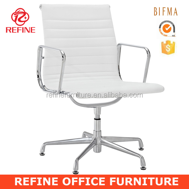 ergonomic emes dining room chairs white leather RF-S072W