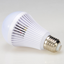 Smart rechargeable led emergency light bulb with backup battery