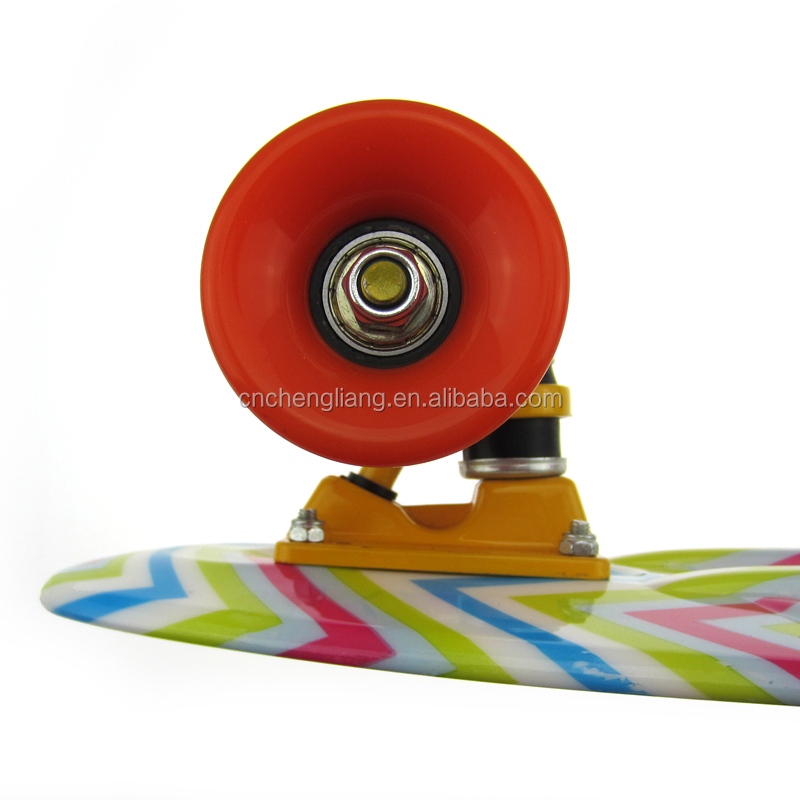22 Inch small shark fish four wheels Retro 70's Mini Urban Cruiser Skateboards For Kids image