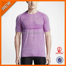 Garment Dyed Auti-Pilling Round neck T Shirt/ Economical Bodybuilding Dry Fit O Neck Handsome Men T-Shirt