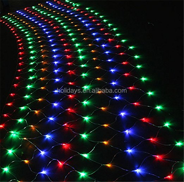 600 LED Connectable Net Mesh Fairy Multi-color String Light Party Wedding Decroation Mesh Light