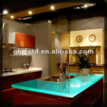 fused glass countertops for kitchen