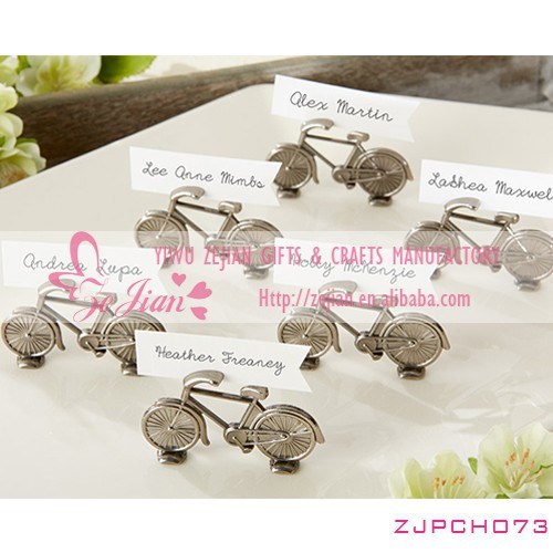 Newest Bicycle Place Card Holder Favors Wedding Table Decoration Gifts