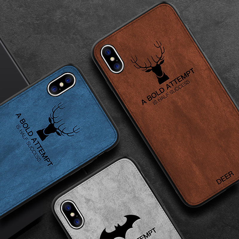 Ultra-thin Canvas + TPU for <strong>Iphone</strong> X Case Cover