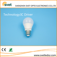 Factory direct supply no flicker led bulb e27 with IC driver 5w