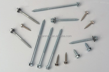 Carbon steel Hex washer head self tapping screws