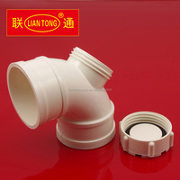 Liantong UPVC 90 degree elbow with checking hole for drainage pipes, cheap pvc-u drainage pipe fittings manufacturer