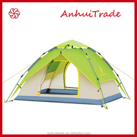 2015 new style 3-4 person automatic fiberglass pole camping tent