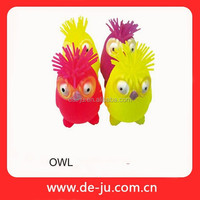 Have Amusement And Educational Kids Rubber Toys Wholesale Owl Toy