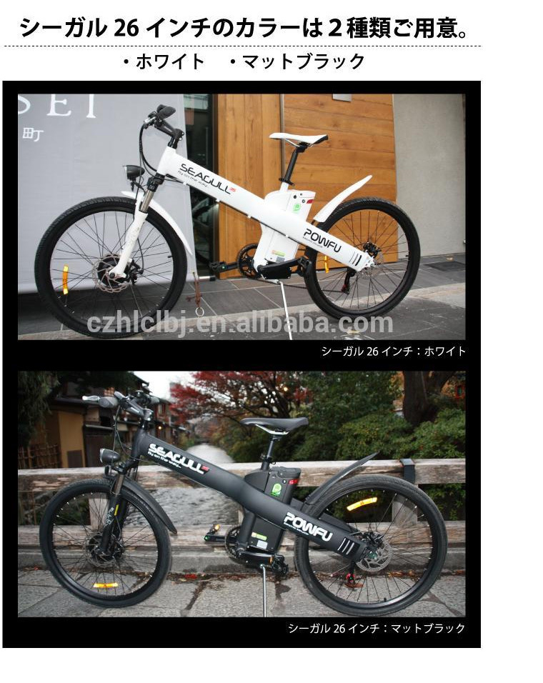 "Seagull GL Powfu 26"" electrical bicycle full suspension electric city bike, shaft drive bicycle"