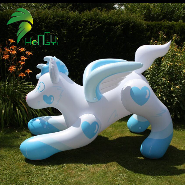 Cartoon Type Sex Inflatable Wolf With SPH , Hongyi Standing Inflatable Wolf Toy For Sale