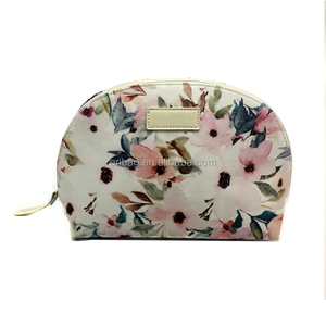 Fashion Flowers Printed Waterproof Cosmetic Bag Custom Makeup Storage Bag